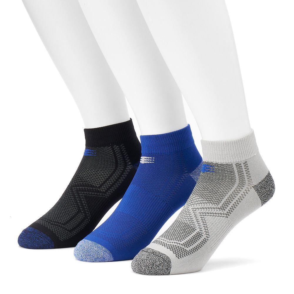 Men's PowerSox by GOLDTOE® 3-pack Tech Series Tactel Low-Cut Socks