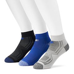 Men's PowerSox 3-pack Tech Series Tactel Low-Cut Socks