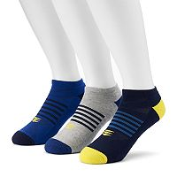 Men's PowerSox 3-Pack Tech Series AquaFx No-Show Socks