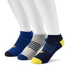 Men's PowerSox 3-Pack Tech Series AquaFx No-Show Socks