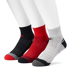 Men's PowerSox 3-pack Tech Series AquaFX Quarter Socks