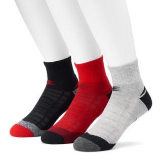 Men's PowerSox 3-pack Tech Series AquaFX Quarter Socks