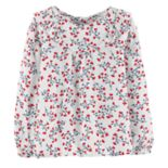 Toddler Girl OshKosh B'gosh® Floral Ruffled Top