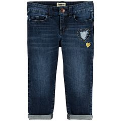 Toddler Girl OshKosh B'gosh® Embroidered Heart Cuffed Jeans
