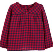 Toddler Girl OshKosh B'gosh® Gingham Henley Top