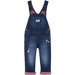 Toddler Girl OshKosh B'gosh® Foiled Star Denim Overalls