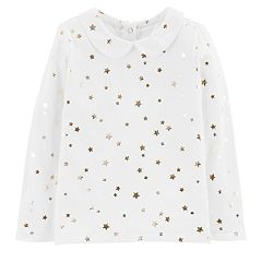 Toddler Girl OshKosh B'gosh® Foiled Star Peter Pan Collar Top