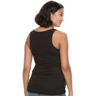 Maternity a:glow Ruched Graphic Workout Tank