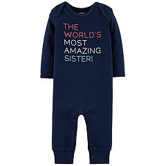 Baby Girl Carter's 'The World's Most Amazing Sister!' Graphic Coverall