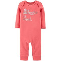 Baby Girl Carter's 'The Snuggle Is Real' Graphic Coverall