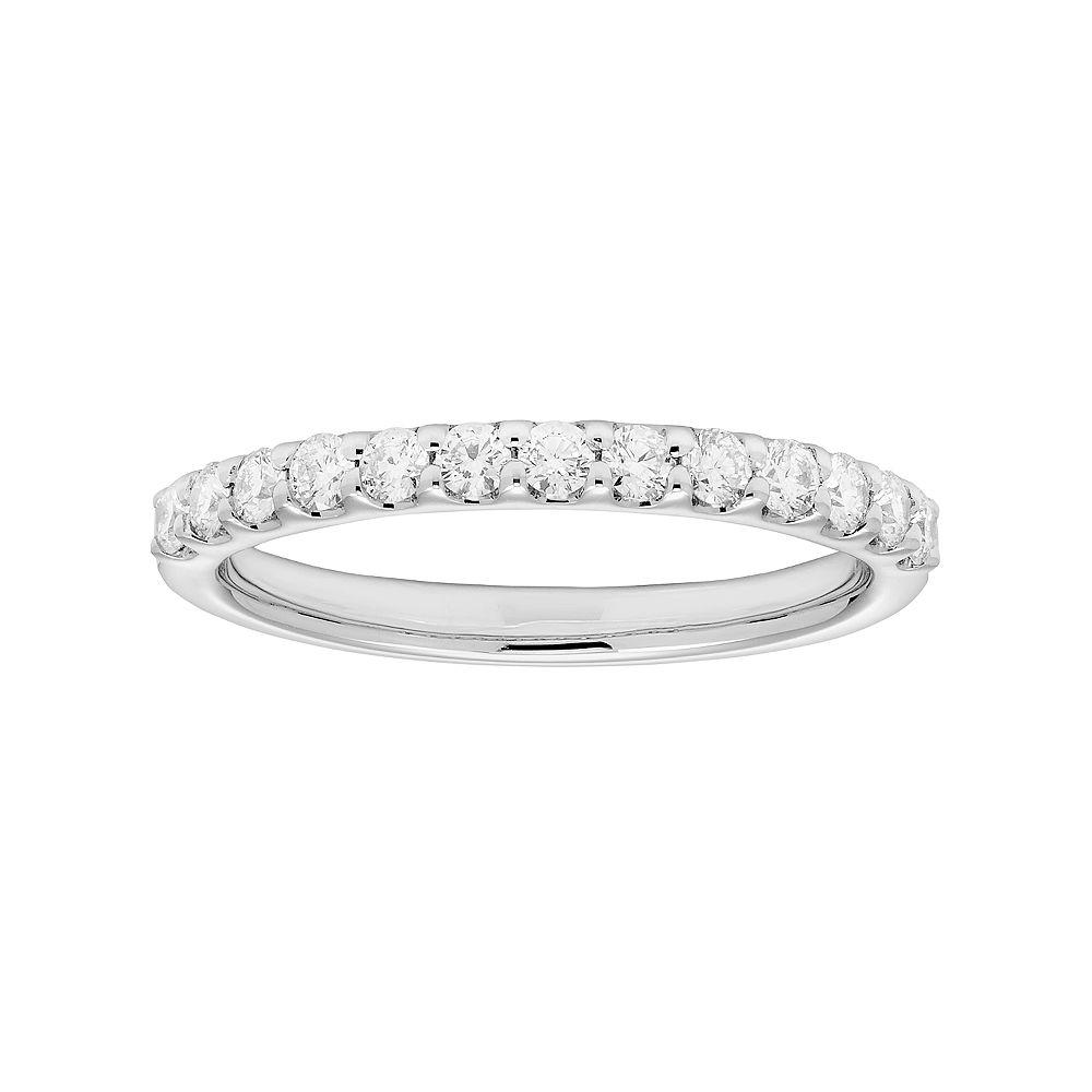 Platinum 3/8 Carat T.W. IGL Certified Diamond Wedding Band