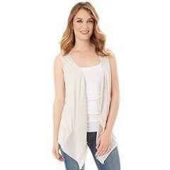 Women's Apt. 9® Gauzy Asymmetrical Cardigan