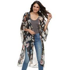 Women's Lightweight Floral Kimono
