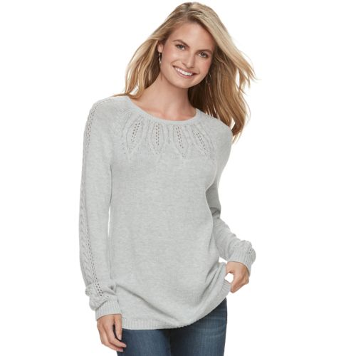 Women's Sonoma Goods For Life™ Cable Knit Sweater by Kohl's