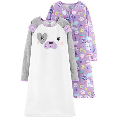 8927a165f Girls 4-14 Carter s 2-pack Long Sleeve Nightgowns