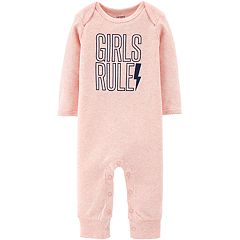 Baby Girl Carter's 'Girls Rule' Graphic Coverall