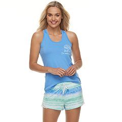 Juniors' SO® Graphic Tank & Shorts Pajama Set