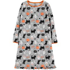 Girls 4-14 Carter's Halloween Cat Fleece Nightgown