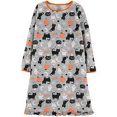 Girls 4-14 Carter's Halloween Cat Fleece Nightgown