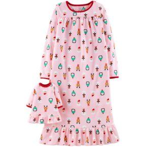Girls 4-14 Carter's Fleece Nightgown & Doll Nightgown