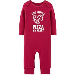 Baby Girl Carter's 'You Gotta Pizza My Heart' Pizza Graphic Coverall