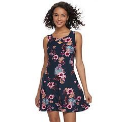 Juniors' Mudd® Crisscross Skater Dress