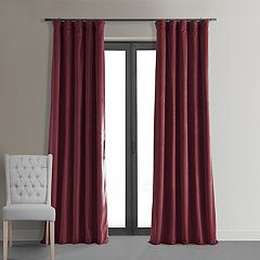 EFF Blackout 1-Panel Signature Velvet Window Curtain