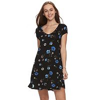 Juniors' SO® Cross-Back Swing Dress