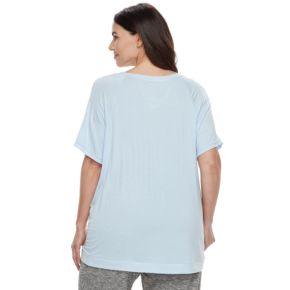 Plus Size SONOMA Goods for Life? Ribbed Trim Tee