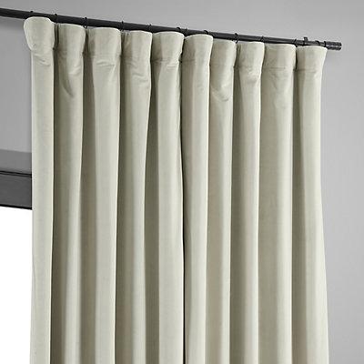 EFF Blackout 1-Panel Signature Velvet Double-Wide Window Curtain