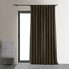 EFF Blackout 1-Panel Signature Velvet Double-Wide Window Curtain