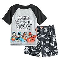 Boys 6-12 Superhero 2-Piece Pajama Set