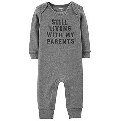 Baby Boy Carter's 'Still Living With My Parents' Graphic Coverall