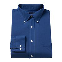 Men's Croft & Barrow® True Comfort Regular-Fit Stretch-Collar Knit Dress Shirt