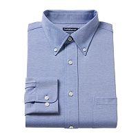 Men's Croft & Barrow® True Comfort Regular-Fit Stretch-Collar Knit Dress Shirt