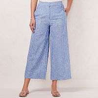 Women's LC Lauren Conrad Linen-Blend Wide Leg Beach Pants