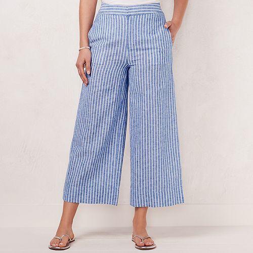 Women's LC Lauren Conrad Linen-Blend Wide Leg Beach Pants