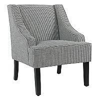 HomePop Houndstooth Swoop Accent Chair