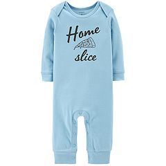 Baby Boy Carter's 'Home Slice' Pizza Graphic Coverall