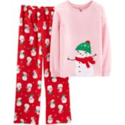 Girls 4-14 Carter's Christmas Top & Bottoms Pajama Set