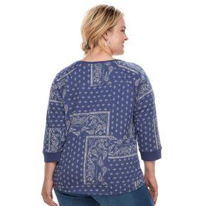 Plus Size SONOMA Goods for Life? V-Neck Sweatshirt
