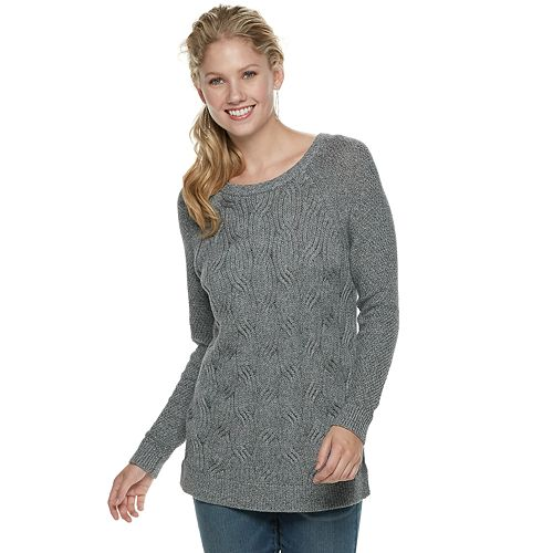 Women's SONOMA Goods for Life™ Twist Cable-Knit Sweater