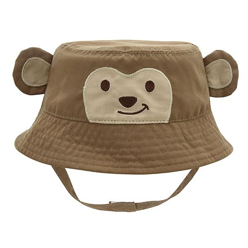 Baby Boy Monkey Bucket Sun Hat