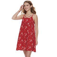 Juniors' SO® Strappy Woven Swing Dress