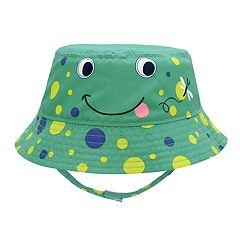 Baby Boy Frog Bucket Sun Hat