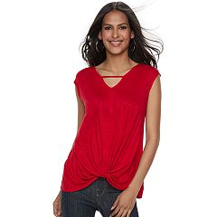 Women's Rock & Republic® Twist-Front Tee