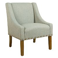 HomePop Modern Nailhead Swoop Accent Chair