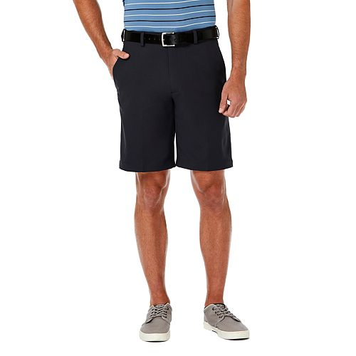 Haggar Men/'s Cool 18 Pro Stretch Solid Oxford Flat Front Short