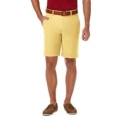 Men's Haggar® Cool 18® PRO Straight-Fit Solid Flat-Front Shorts