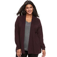 Plus Size Apt. 9® Essential Ribbed Cardigan